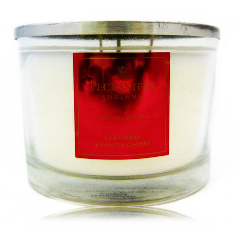 Pecksniffs Cranberry & Winter Cherry  3 Wick candle