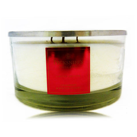 Pecksniffs Limited Edition Large 4 Wick Cranberry & Winter Cherry Candle
