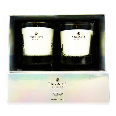 Pecksniff's Frosted Pine & Juniper Duo  Candle Set