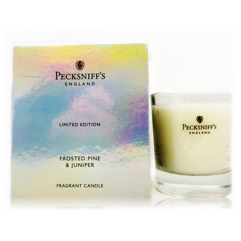 Pecksniffs Frosted Pine & Juniper Fragranced Candle  Rigid Box