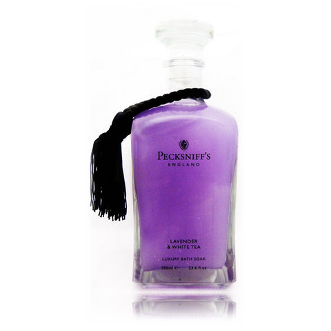 Pecksniffs Lavender & White Tea Luxury Bath Soak  700ml