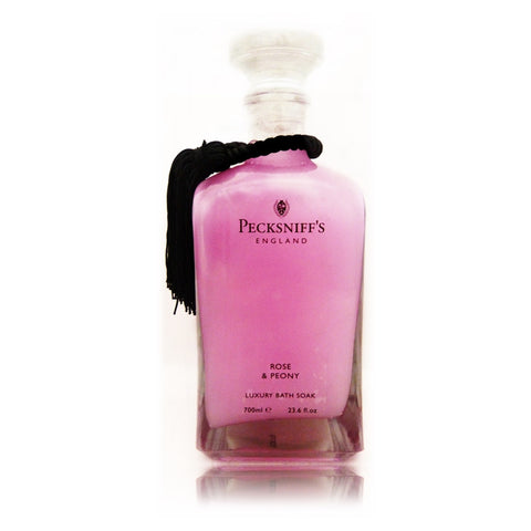 Pecksniff's Rose & Peony Luxury Bath Soak  700ml