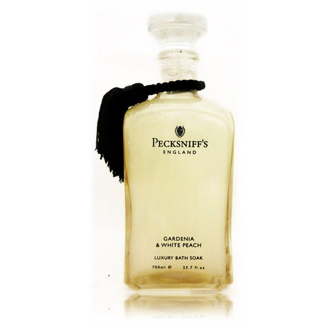 Pecksniffs Gardenia & White Peach Luxury Bath Soak  700ml