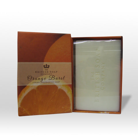 The British Soap Company presents Orange Burst Fine Fragranced Luxury Soap