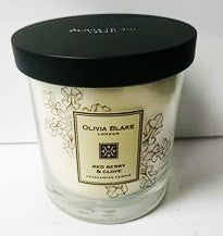 Olivia Blake Red Berry & Clove Fragranced Jar Candle
