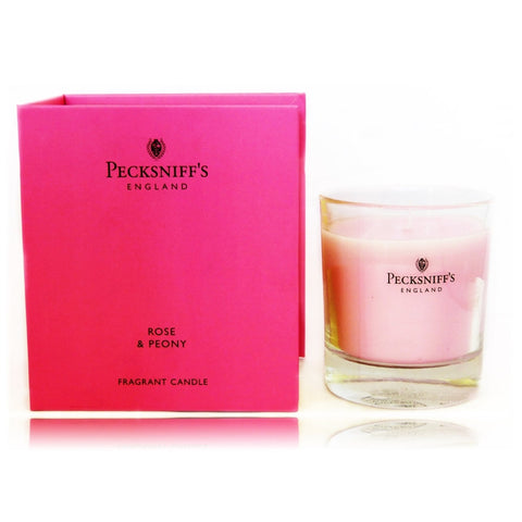Pecksniffs Rose & Peony Fragranced Candle (book style box)