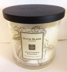 Olivia Blake Wild Pumpkin & Nutmeg Fragranced Tall  3 Wick  Candle
