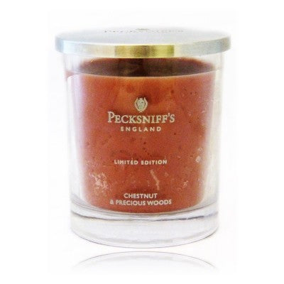 Chestnut & Precious Woods  Limited Edition Single Wick Fragrant Candle with Metal Lid