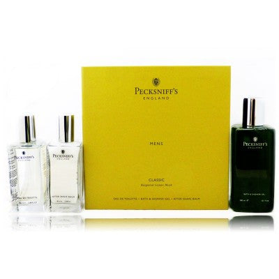 Pecksniffs Classic Mens Trio The British Fragrance And Cosmetics House