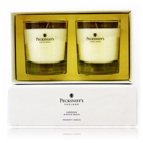 Pecksniff's Gardenia & White Peach Duo  Candle Set