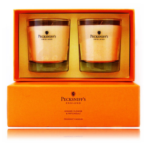 Pecksniff's Ginger Flower & Patchouli  Duo Candle Set