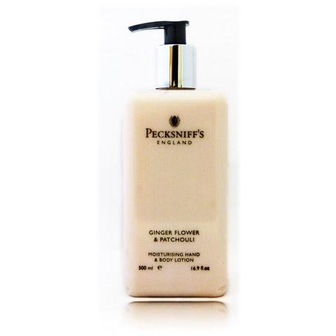 Pecksniff's Ginger Flower & Patchouli Moisturising Hand & Body Lotion  500ml