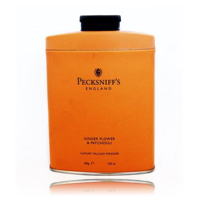 Pecksniff's Ginger Flower & Patchouli Luxury Talcum Powder