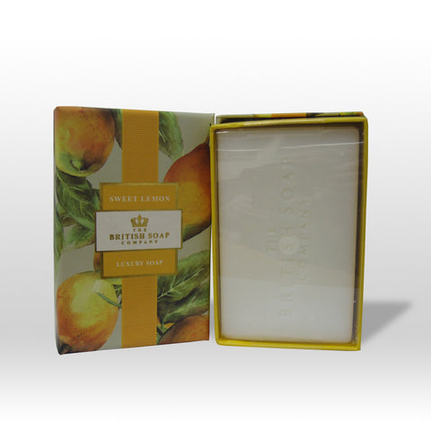 The British Soap Company presents Sweet Lemon Fine Fragranced Luxury Soap