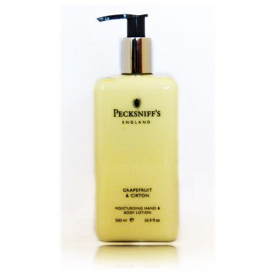 Pecksniff's Grapefruit & Citron Moisturising Hand & Body Lotion  500ml