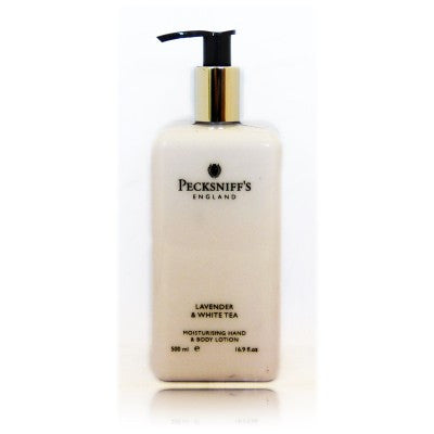 Pecksniff's Lavender & White Tea Moisturising Hand & Body Lotion  500ml