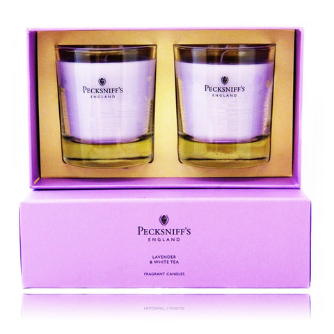 Pecksniff's Lavender & White Tea  Duo Candle Set