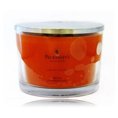 Pecksniffs Limited Edition 3 Wick Pecan & Pumpkin Seed  Candle