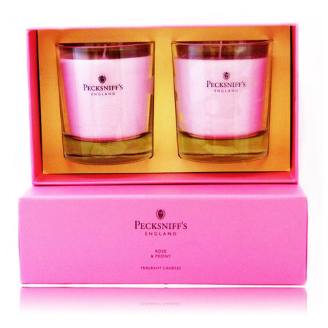 Pecksniff's Rose & Peony Duo Candle Set