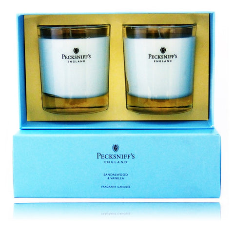 Pecksniff's Sandalwood & Vanilla  Duo Candle Set