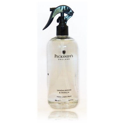 Pecksniffs Sandalwood & Vanilla Fresh Linen Spray  500ml