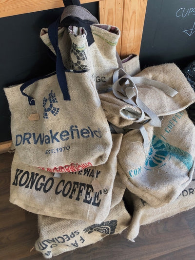 Handmade Coffee Sack Tote Bag