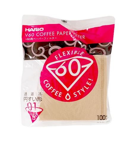 Hario V60-01 Brown (100 Pack)