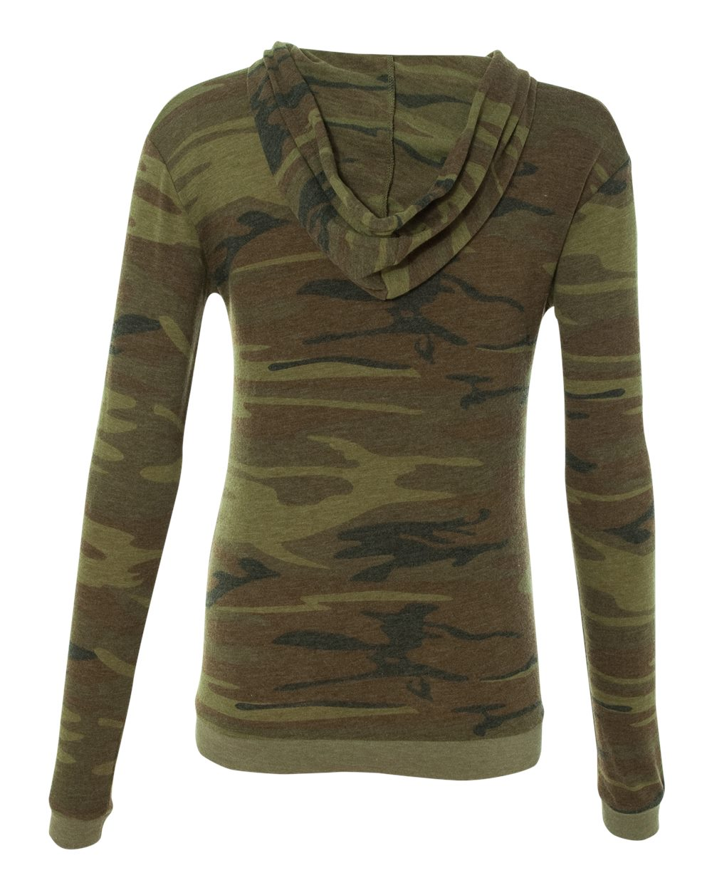 """FKN SNDR"" Women's Eco-Hoodie (Green Camouflage)"
