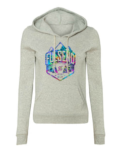 """Tie Dyed Adventure"" Women's Eco-Hoodie Re-Boot"