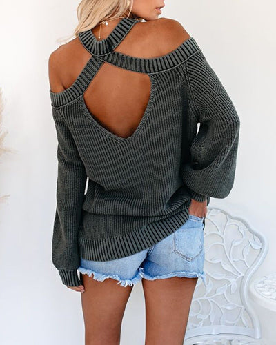 Hayley Cold Shoulder Sweater