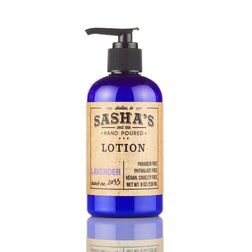 Sasha's Hand Poured Lavender Lotion