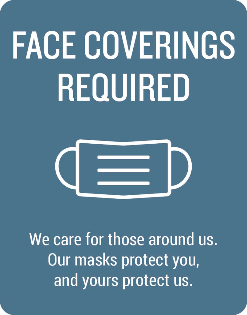 Face Coverings Required Wall Graphic