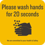 Please Wash Hands Wall Graphic