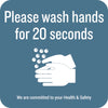 Please Wash Hands Decal