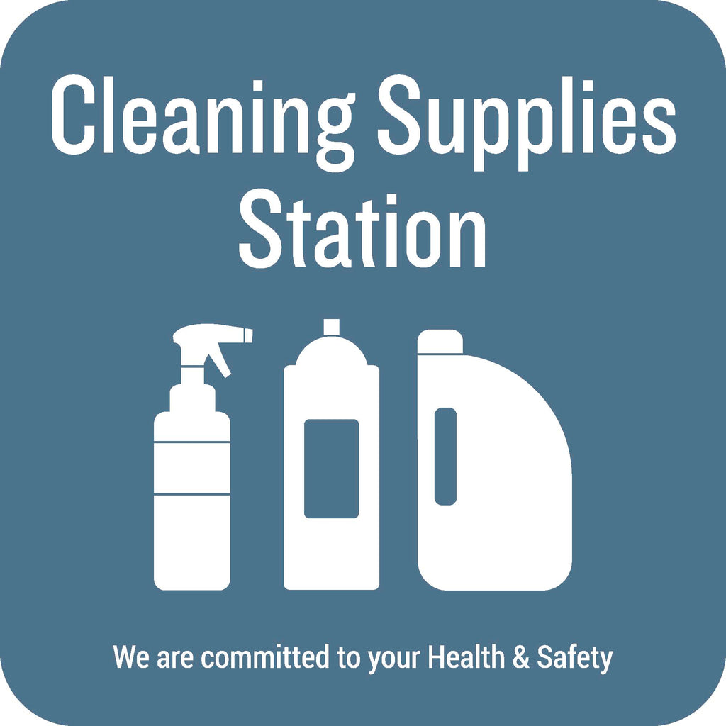 Cleaning Supplies Station Wall Graphic