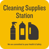 Cleaning Supplies Station Decal