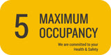 Maximum Occupancy Wall Sign, 5