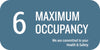 Maximum Occupancy Wall Sign, 6