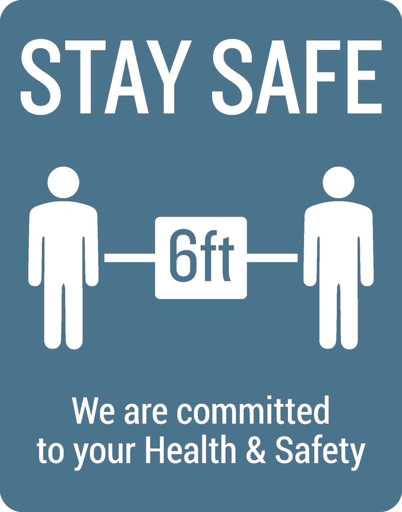 Stay Safe 6ft Wall Graphic