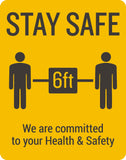 Stay Safe 6ft Decal