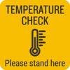 Temperature Check Floor Graphic