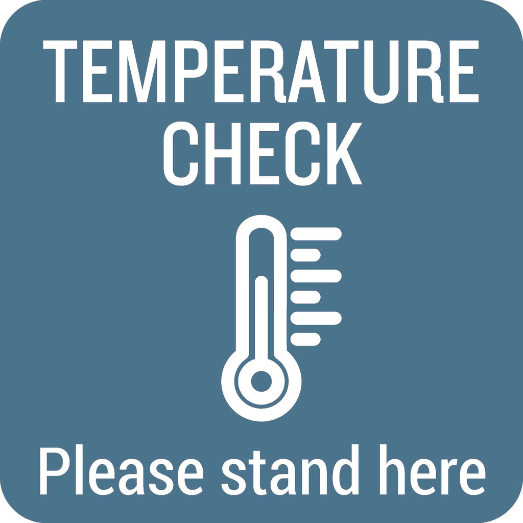 Temperature Check Outdoor Floor Graphic