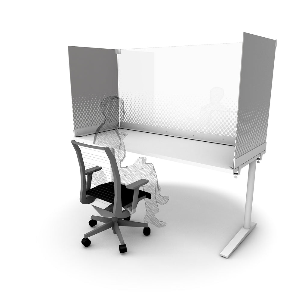 Desktop Protective Surround, White