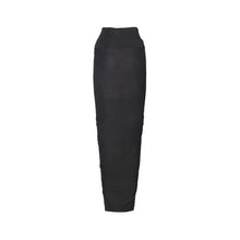 Load image into Gallery viewer, Black High Waist Modal Soft Jersey Skirt with Toggle