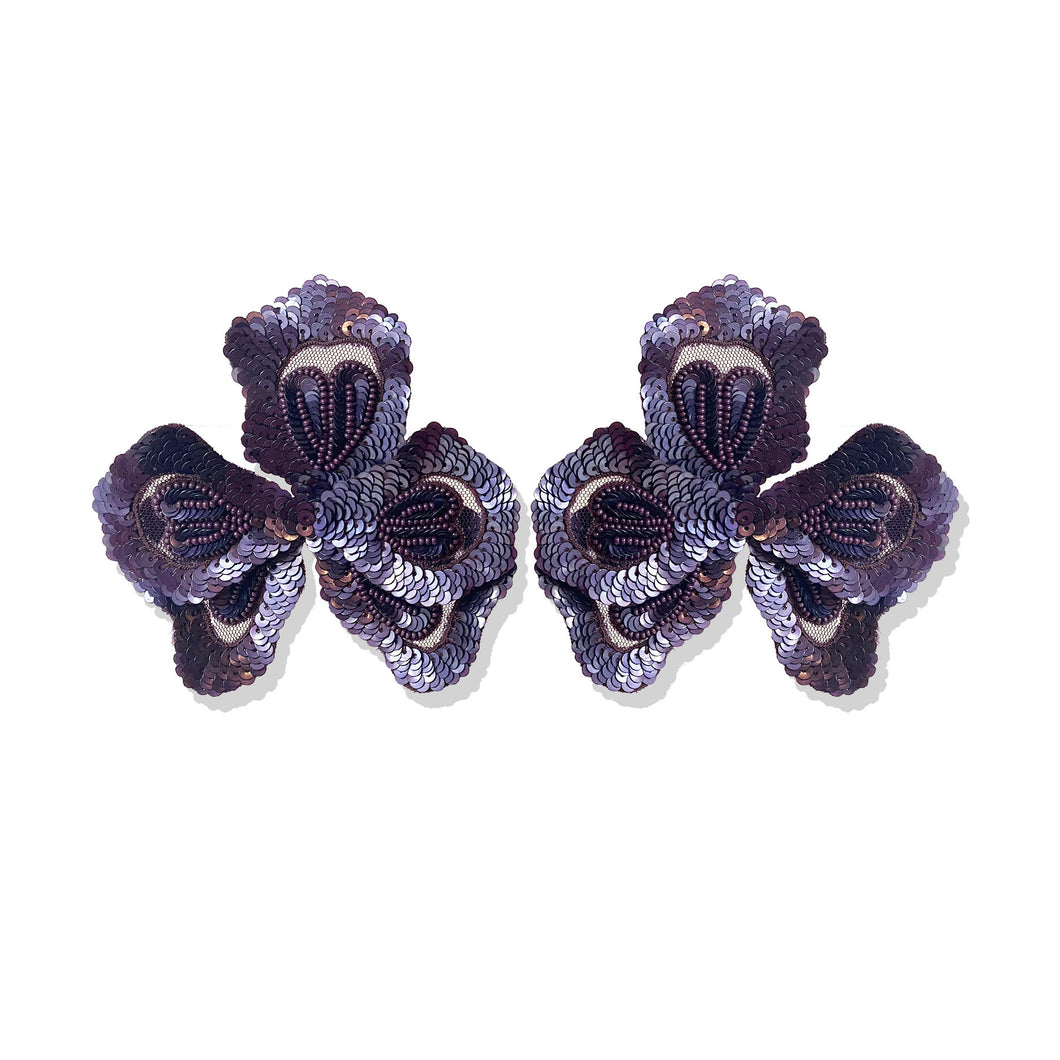 Bordeaux Oversized Petal Earrings