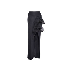 Load image into Gallery viewer, Black Jersey Tulle & Lace Skirt