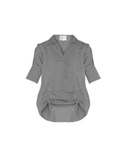 Load image into Gallery viewer, Grey Cotton Exaggerated Back Shirt