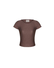 Load image into Gallery viewer, Pale Cocoa Modal Soft Jersey Fitted Tee