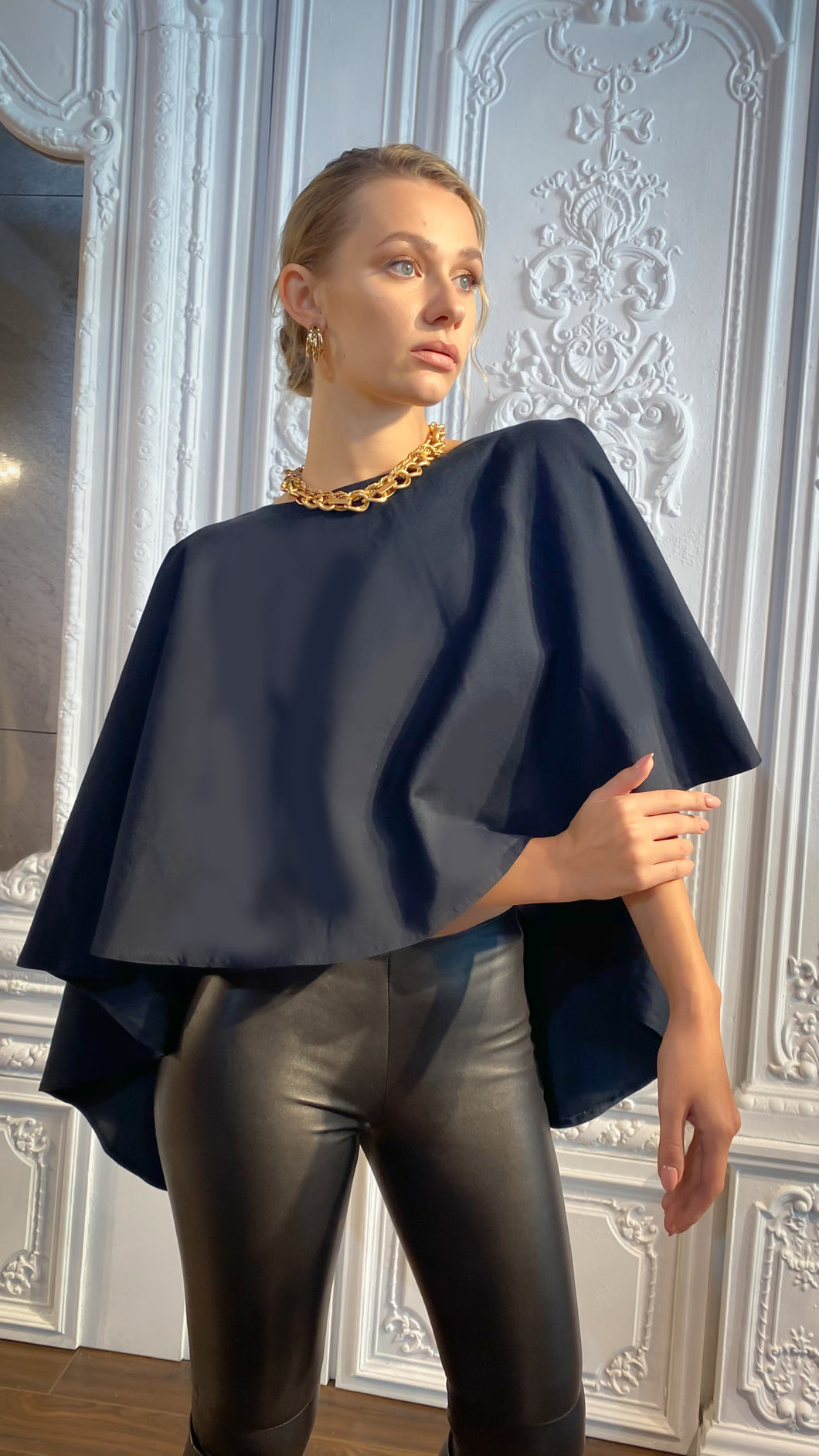Dark Denim Cape