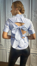 Load image into Gallery viewer, Baby Blue Back Bow Shirt